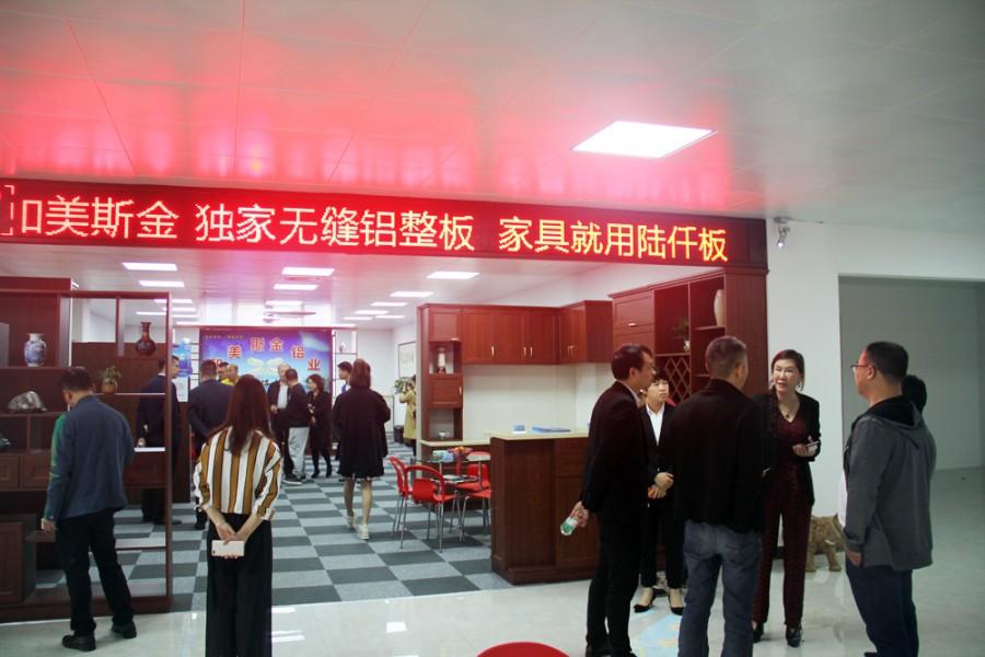 领导嘉宾参观凤池全铝家居交易中心部分企业展厅