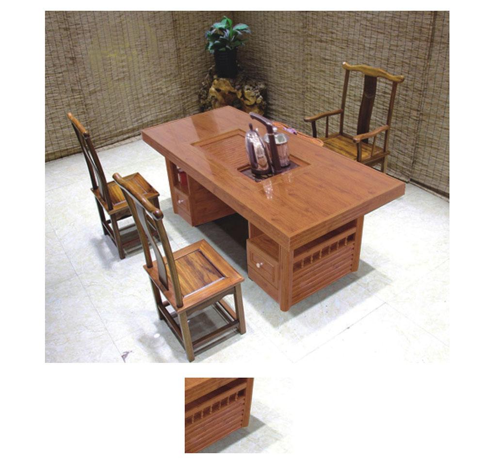 三通铝业 固美馨全铝家居 全铝家具 全铝茶桌