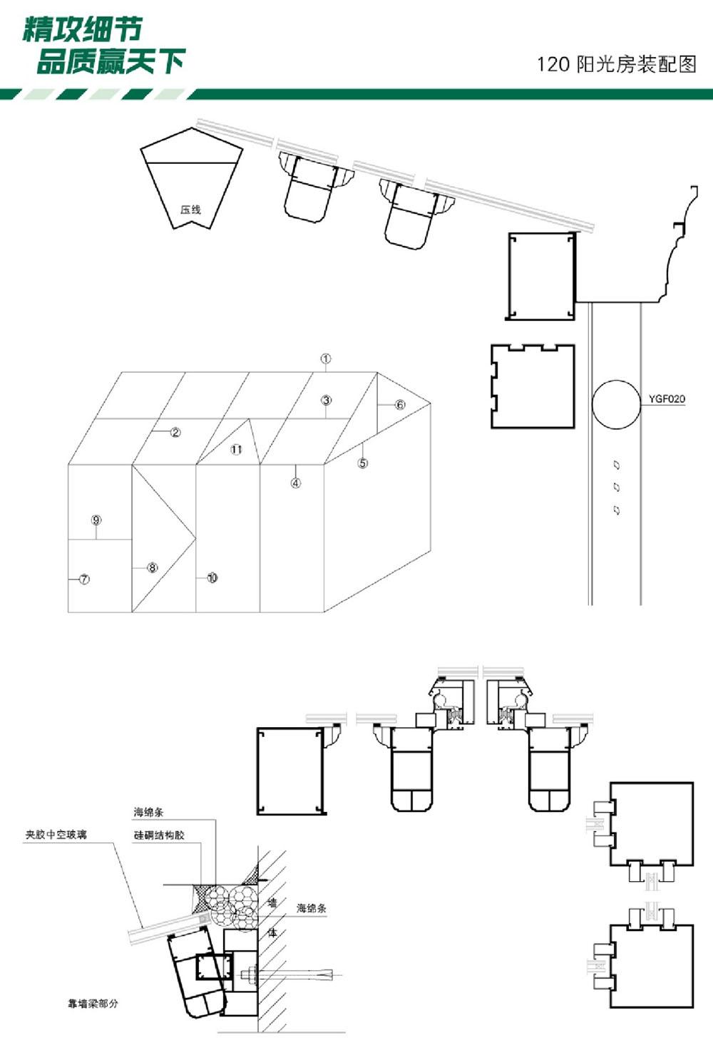 永毅兴铝型材 全铝家居 全铝家具 铝门窗五金 120阳光房