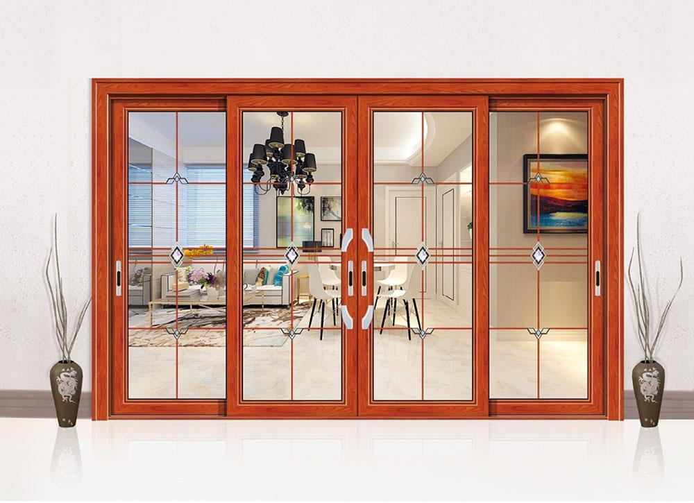 永毅兴铝型材 全铝家居 全铝家具 铝门窗五金 35领秀推拉门系统